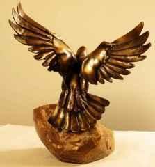 """36x29x15 cm - Bronz - 2013 - """"Dove"""""""