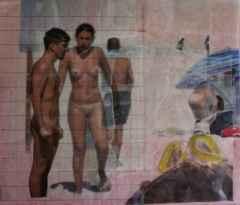 gündelik yaşam dizisi-daily life series,, 50x60 cm, Fotokolaj, 2013