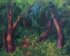 Ahmet Yeşil - 'Ormanda', 80x100 cm, TÜYB