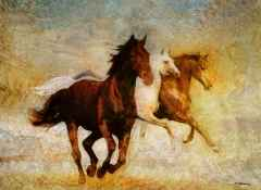 Hasan Çağlayan - 'Yılkı Atları', 80x110 cm, TÜKT