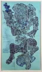 Semih Kaplan - 'Deniz Tanrıları' 132x75, Seramik Pano, 2016