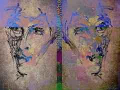 Necmettin Özlü - 'İkiz portre / Twin portrait', 90x120 cm, Hahnemühle Monet TÜKT, 2016
