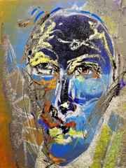 Necmettin Özlü - 'Portre ve nü / Portrait & nu', 120x90 cm, Hahnemühle Monet TÜKT, 2016