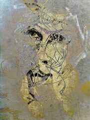 Necmettin Özlü - 'Portre-II / Portrait-II ', 120x90 cm, Hahnemühle Monet TÜKT, 2016