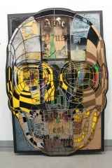 Emre Lüle - 'Inde deus abest - deus est ubique / Burada Tanrı yok – Tanrı her yerde', 95x140 cm, Polyplastic, 2016