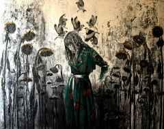 Şahin Demir - 'Günebakanlar / Sunflowers', 150x190 cm, Tüab, 2016