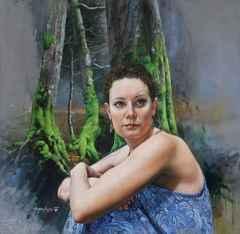 Hasan Saygın - Bakış/View/Le regard, 70x70 cm, Tuvale yağlı boya/Oil on canvas, 2017
