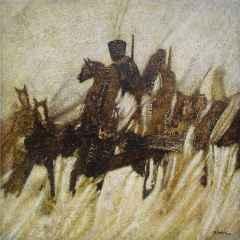 Hasan Çağlayan - Kuva-yi Milliye - VI, 70x70 cm, Tuvale karışık teknik/Mixed on canvas, 2017