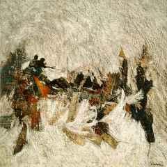 Hasan Çağlayan - Kuva-yi Milliye - IX, 70x70 cm, Tuvale karışık teknik/Mixed on canvas, 2017