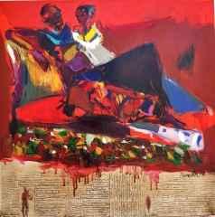 Nurettin Akkaya - Yalnızlık/Loneliness, 70x70 cm, Tuvale yağlı boya/Oil on canvas, 2017