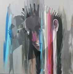 Hakan Eraslan - İsimsiz/Untitled, 70x70 cm, Tuvale akrilik boya/Arcylic on canvas, 2017