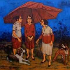 Orhan Umut - Açık alan/Open range, 70x70 cm, Tuvale akrilik boya/Acrylic on canvas, 2017