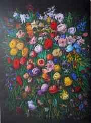 Ahmet Yeşil - Benim Çiçeklerim, 150x110 cm TÜYB 2018