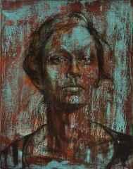 Ceyhun Yaman<br />'Kız Kardeş-II' - 92x73 cm - TÜAB - 2014