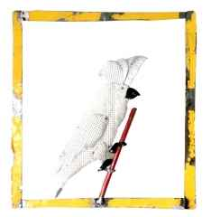 ' Papağan ', 50x50x10 cm, Hurda Metal, Kaynak