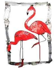 ' Flamingos ', 100x70x7 cm, Hurda Metal, Kaynak