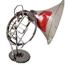 ' French horn ', 75x80x60 cm, Hurda Metal, plastik Kaynak