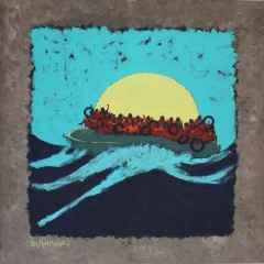 Candenizi / Sea of Life 50x50 cm, Bez Kaplı Duralit Üzerine Akrilik