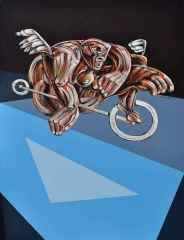 "Erhan Lanpir - 89x116 cm - TÜAB - 2014 - ""Bisikletli"""
