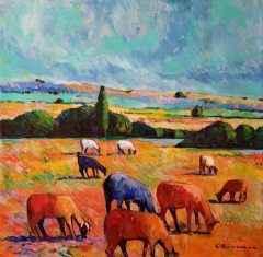 Trakya Koyunları, 60x60 cm, TÜYB, 2018