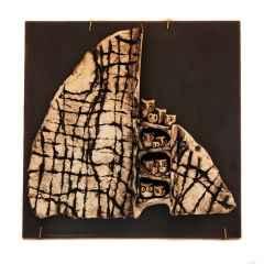 Duvar Seramiği, Serbest elle şekillendirilmiş ,sırlı stoneware, 1240°C, 35x35 cm, 2014