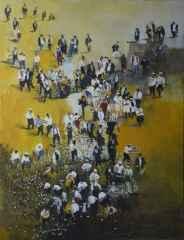 """116x89 cm - TÜAB - 2012 - """"Sarı Sayfalar-Çiçekler"""""""