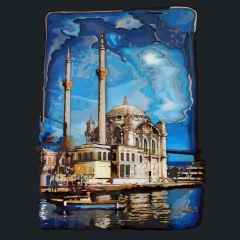 'Ortaköy'<br />80x60 cm, Poli Plastik+Ahşap, 2015