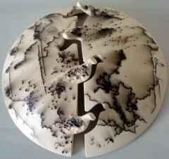 35x37x12 cm - Seramik (Horsehair Raku) - 2012
