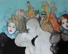 'Lautrec'e Saygı'<br />80x100 cm, TÜAB, 2015