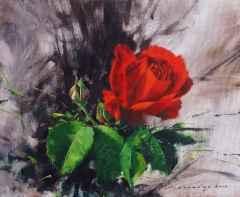 'Kırmızı Gül'<br />24x29 cm - TÜYB - 2013