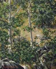 'İki Ağaç'<br />29x24 cm - TÜYB - 2014