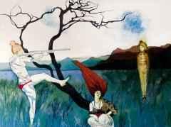 Ercan Ayçiçek<br />'Sazlıklardan Havalanan...', 90x120 cm, TÜAB, 2015