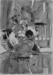 40x32 cm - Kağıt Üzeri Desenler - 2014 - Cafe-V