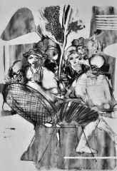 40x32 cm - Kağıt Üzeri Desenler - 2014 - Cafe-XIII