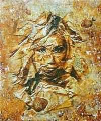 'Fosilleşmiş Bedenler' 60x50 cm, Yapay Kaya ÜKT