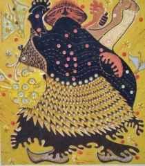 46x40 cm - Ağaç Baskı - 2006 - Şaman'nın Sevinci