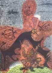 80x58 cm - Ağaç Baskı - 2004 - Çatalhöyük Rüyası