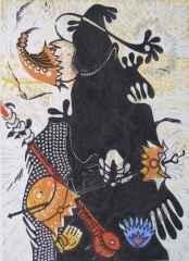 47x34 cm - Ağaç Baskı - 2004 - Şaman-III