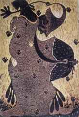 131x91 cm - Ağaç Baskı - 2004 - Ayin Töreni-I