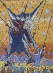 85x62 cm - Ağaç Baskı - 2007 - İlkyaz'ın Postlarla Dansı