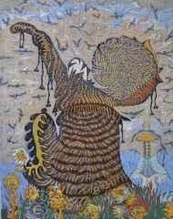 91x72 cm - Ağaç Baskı - 2007 - Gösteri-II