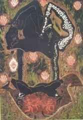 81x55 cm - Ağaç Baskı - 2004 - Dans