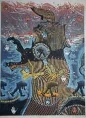 108x79.5 cm - Ağaç Baskı - 2011 - Arayış-V