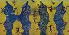 170x340 cm - Ağaç Baskı - 2014 - Çatalhöyük'te Yaşam II