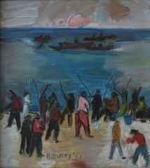 'Balık Tutanlar'<br />25x28 cm, DÜYB, 2001