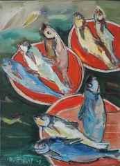 'Balıklar I'<br />70x50 cm, TÜYB, 2009