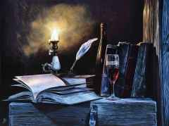 'Ay Sonatı' - 90x120 cm, Tuvale Yağlı boya