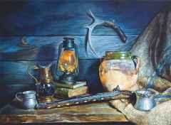 'Avcının Günlüğü' - 110x150 cm, Tuvale Yağlı boya