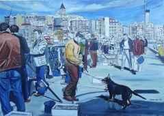 """70x100 cm - TÜAB - 2009 - """"Galata Köprüsü'nden Yansımalar-I"""""""