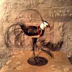 Maria Berent<br />'Vipan', 40x15x40 cm, Ceramik, Iron, Wire, 2015
